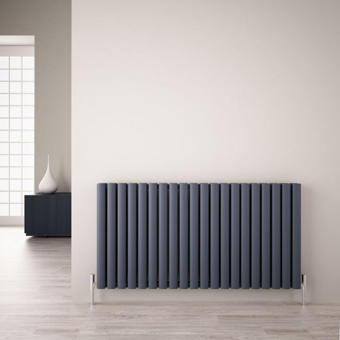 Radiateur Aluminium Design Anthracite 60 x 119cm 2298 watts Vitality Air