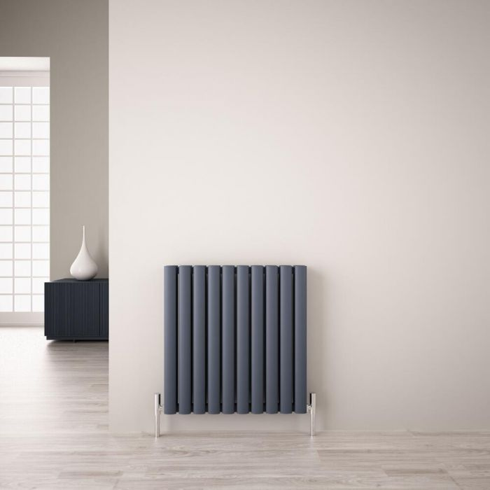 Radiateur Aluminium Design Anthracite 60 x 59cm 1149 watts Vitality Air