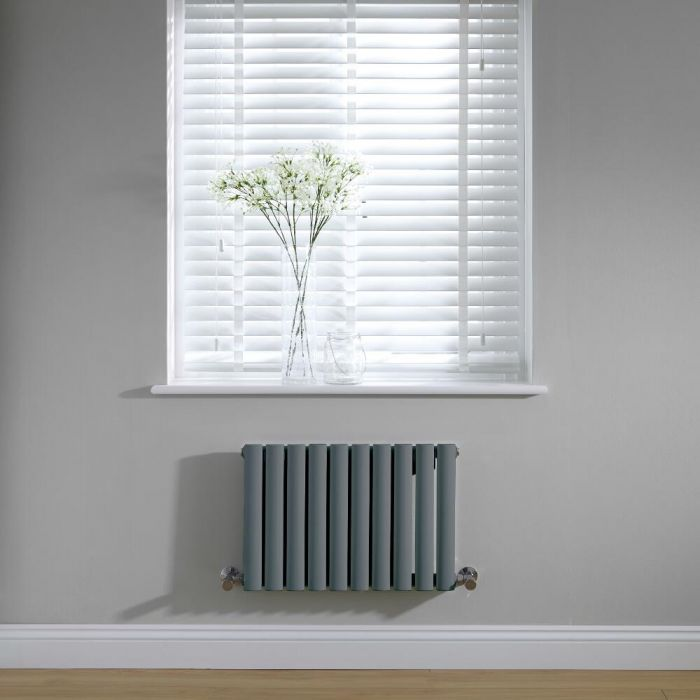 Radiateur horizontal anthracite Vitality 40 x 59.5cm 406 watts