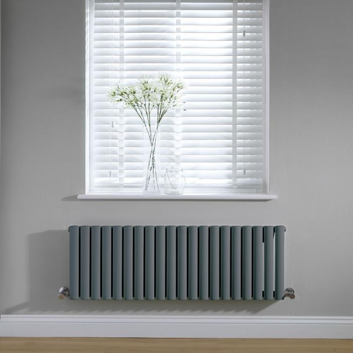 Radiateur horizontal anthracite Vitality 40 x 118cm 813 watts