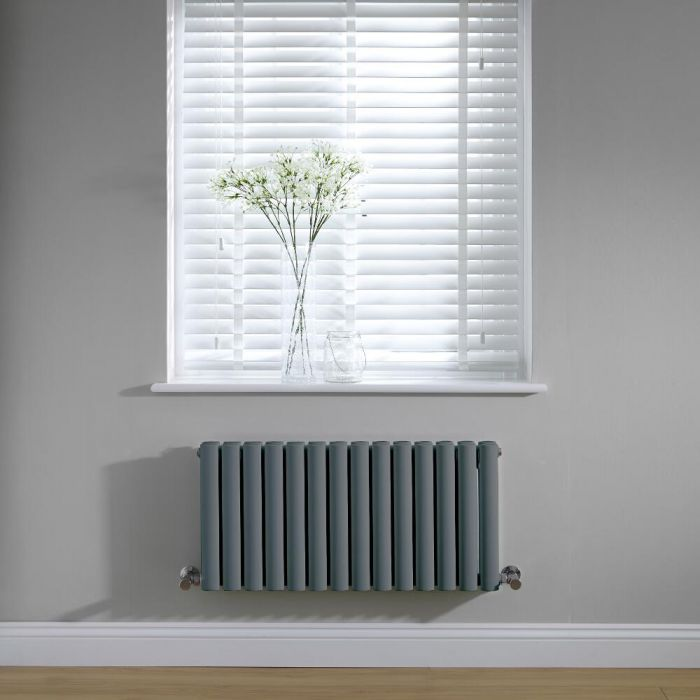 Radiateur horizontal anthracite Vitality 40 x 83.4cm 866 watts