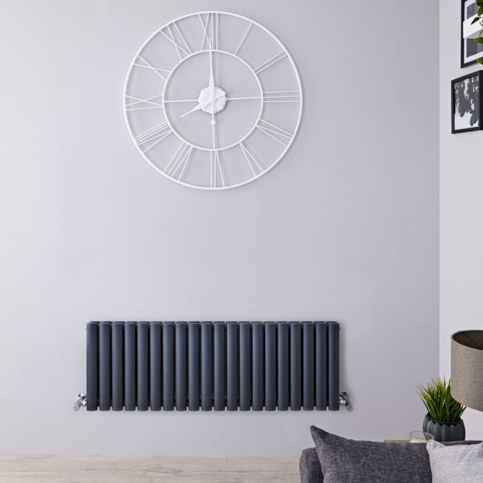 Radiateur horizontal anthracite Vitality 40 x 118cm 1238 watts