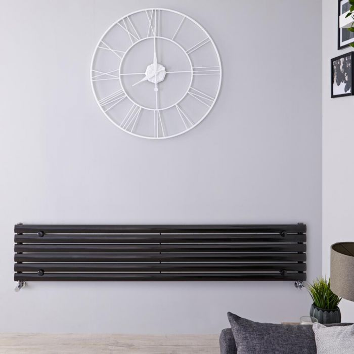 Radiateur Design Horizontal Noir Vitality 35,4cm x 160cm x 5,6cm 815 Watts