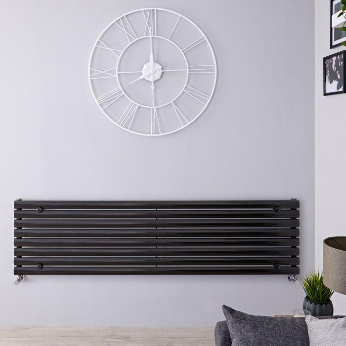 Radiateur Design Horizontal Noir Vitality 47,2cm x 178cm x 5,6cm 1304 Watts