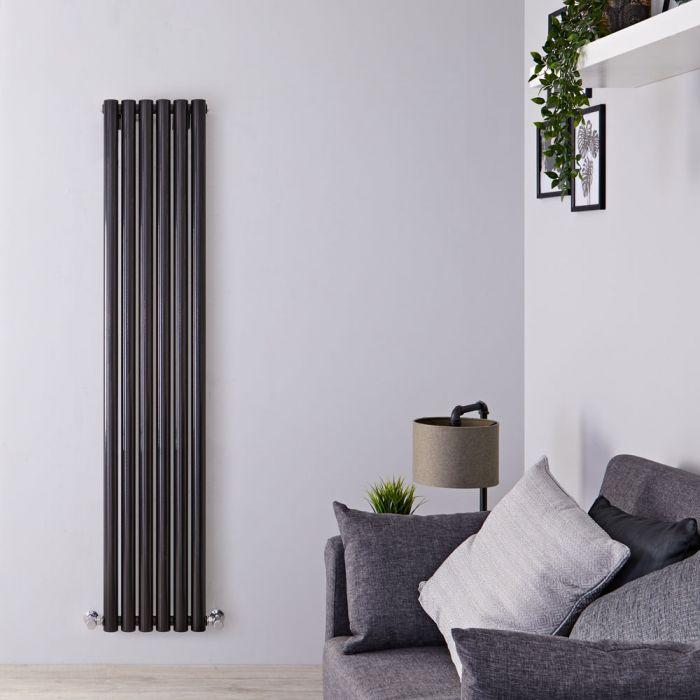 Radiateur Design Vertical Noir Savy 160cm x 35,4cm x 8,2cm 959 Watts
