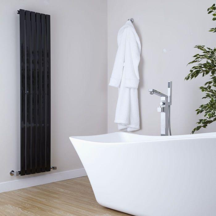 Radiateur Design Vertical Noir Sloane 160cm x 35,4cm x 5,4cm 862 Watts