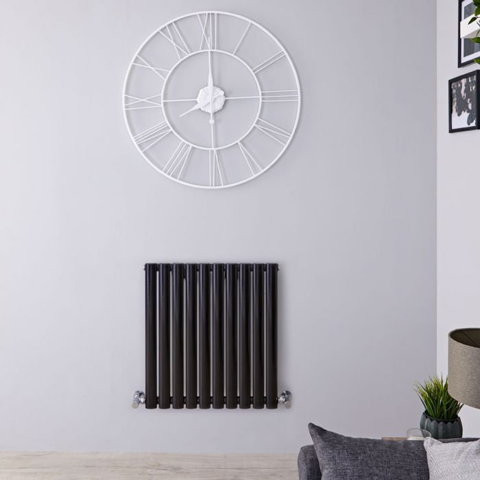 Radiateur Design Horizontal Noir Vitality 63,5cm x 59,5cm x 5,5cm 597 Watts