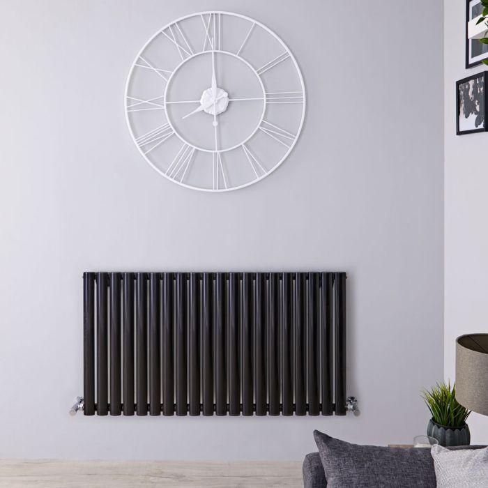 Radiateur Design Horizontal Noir Vitality 63,5cm x 118cm x 5,6cm 1194 Watts