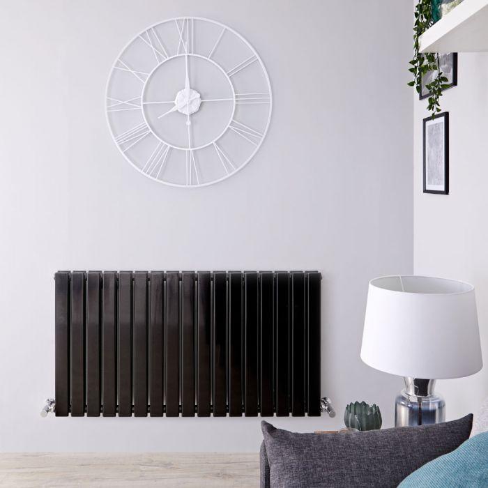 Radiateur Design Horizontal Noir Delta 63,5cm x 119cm x 5,8cm 1624 Watts