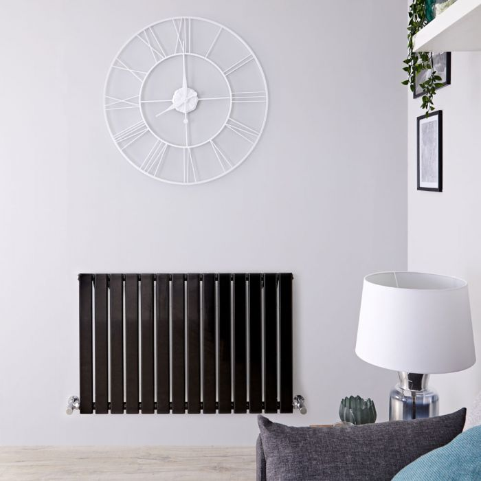 Radiateur Design Horizontal Noir Delta 63,5cm x 98cm x 4,6cm 876 Watts