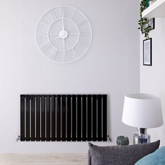Radiateur Design Horizontal Noir Delta 63,5cm x 119cm x 4,6cm 1064 Watts