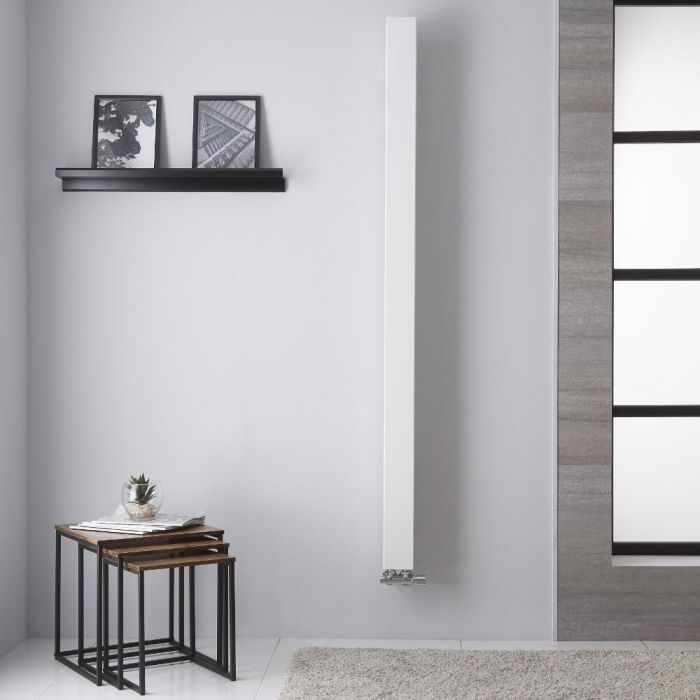 Una - Radiateur Vertical Design Blanc - 180cm x 10cm