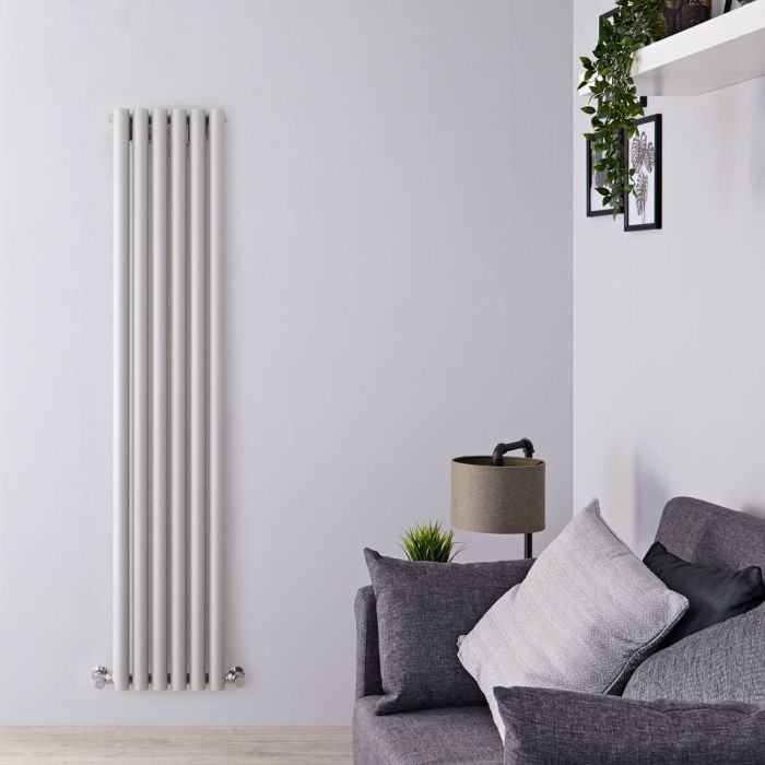 Radiateur Design Vertical Argent Savy 160cm x 35,4cm x 8,2cm 959 Watts