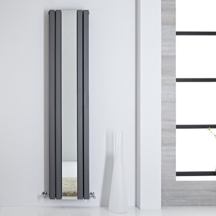 Radiateur miroir anthracite Sloane 180 x 38.5cm 1344 watts