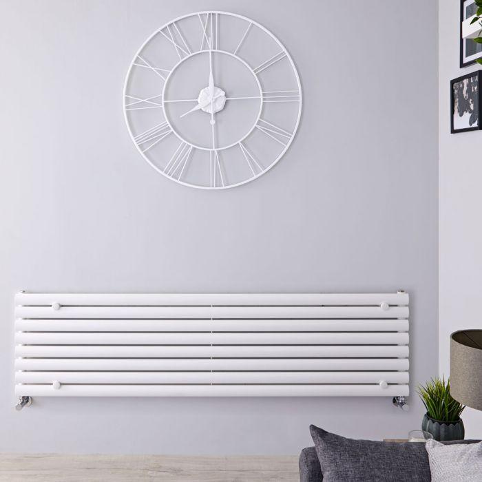 Radiateur Design Horizontal Blanc Vitality 47,2cm x 160cm x 5,5cm 1065 Watts