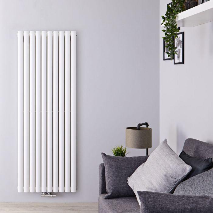 Radiateur Design Vertical Raccordement Central Blanc Vitality Caldae 160cm x 59cm x 7,8cm 2148 Watts