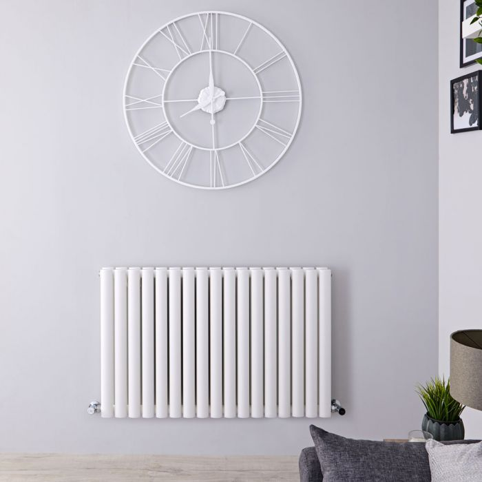 Radiateur Design Horizontal Blanc Vitality 63,5cm x 100cm x 7,8cm 1584 Watts