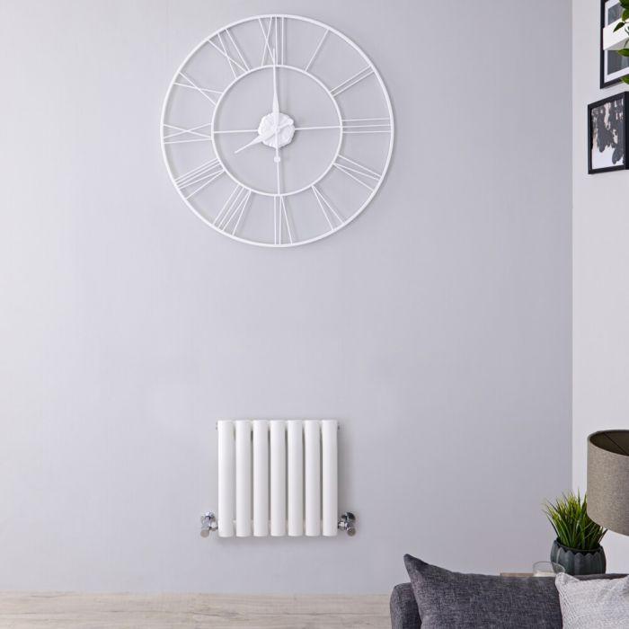 Radiateur Design Horizontal Blanc Vitality 40cm x 41,5cm x 5,6cm 284 Watts