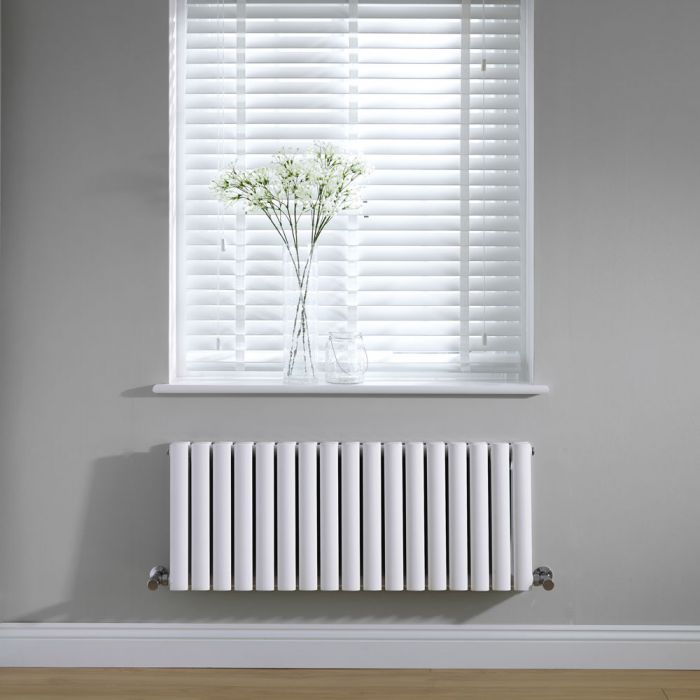 Radiateur Design Horizontal Blanc Vitality 40cm x 100cm x 7,8cm 1171 Watts