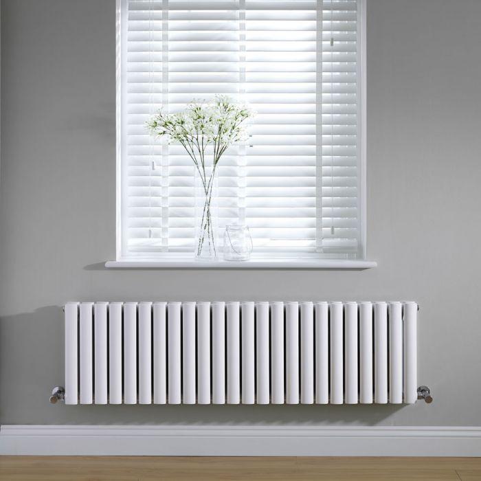 Radiateur Design Horizontal Blanc Vitality 40cm x 141,1cm x 7,8cm 1653 Watts