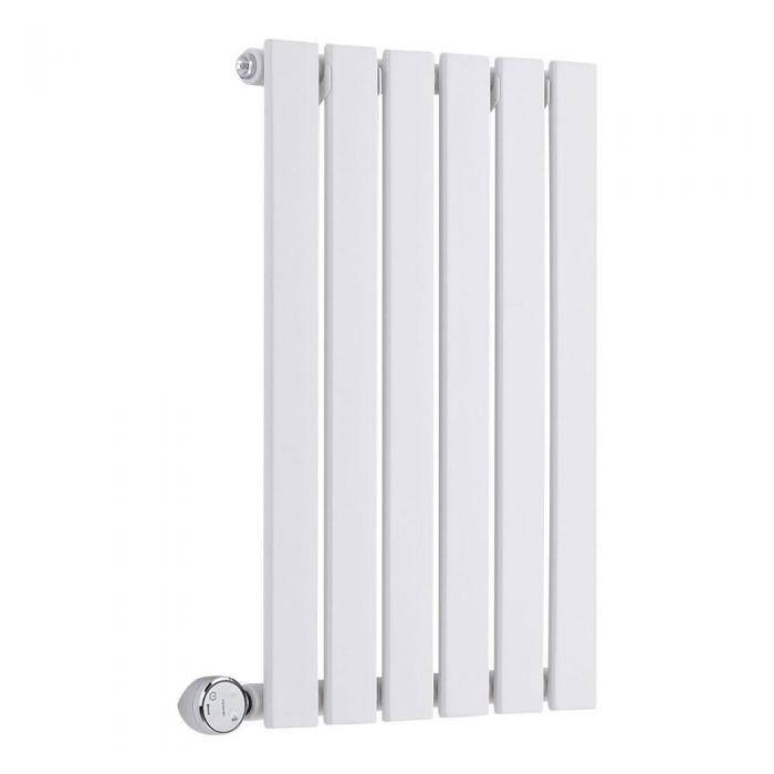 Radiateur Design Électrique Horizontal Blanc Delta 63,5cm x 42cm x 4,6cm