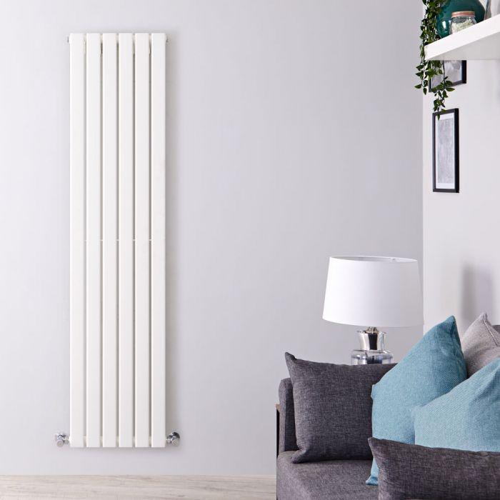 Radiateur Design Vertical Blanc Delta 160cm x 42cm x 4,7cm 879 Watts