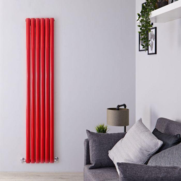 Radiateur Design Vertical Rouge Vitality 180cm x 35,5cm x 7,9cm 1632 Watts