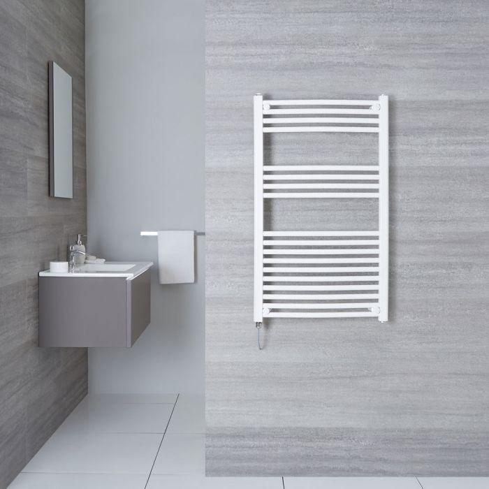 Hudson Reed Sèche-Serviettes Électrique Incurvé Blanc Etna 100cm x 60cm x 5cm