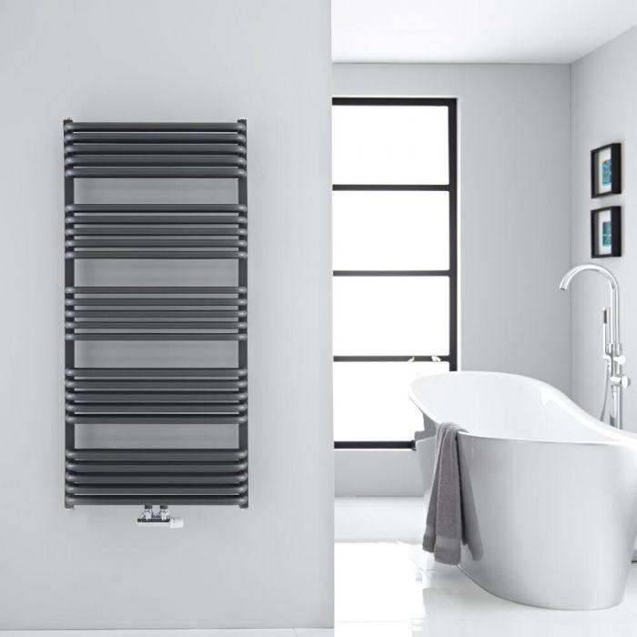 Sèche-serviettes eau chaude Arch anthracite 126,9x60cm 1338 watts