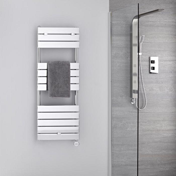 Sèche-serviettes électrique Chromé 121.3 x 45cm Lustro