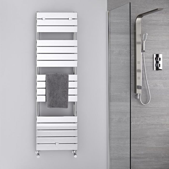 Sèche-serviettes eau chaude Chromé 151.2 x 45cm 535 watts Lustro