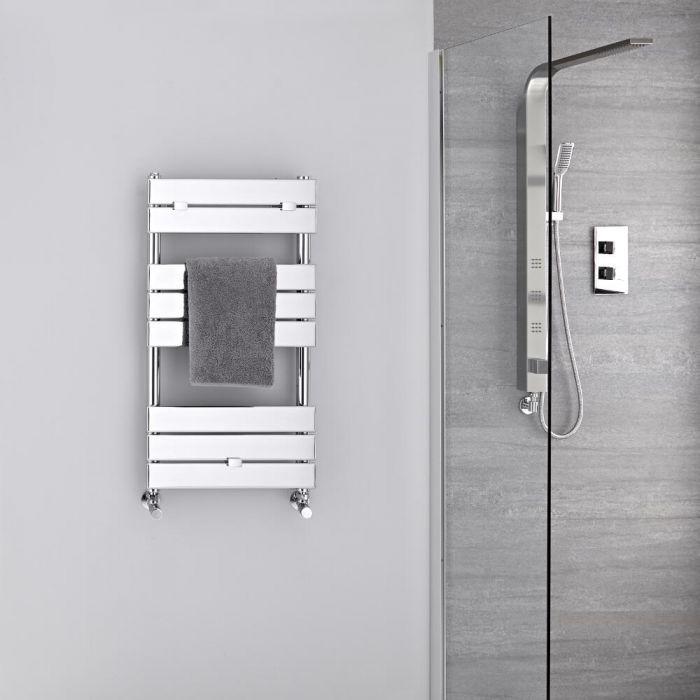 Sèche-serviettes eau chaude Chromé 84 x 45cm 250 watts Lustro