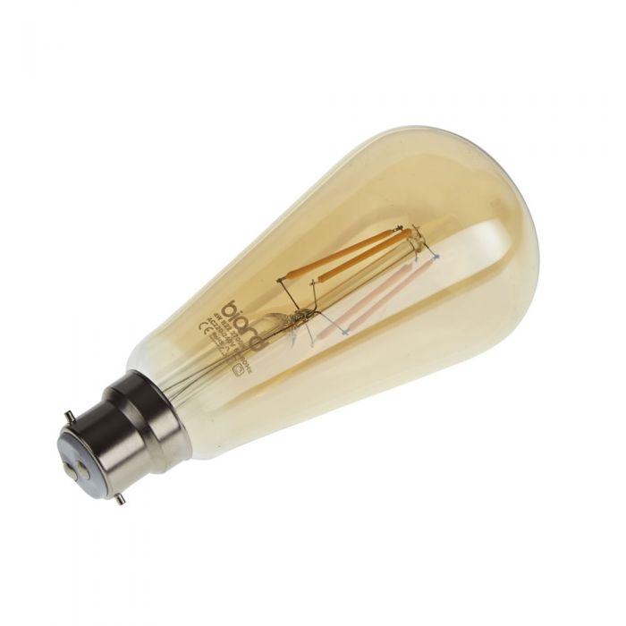 Biard Ampoule LED Filament B22 4W Dimmable Ambrée - Lot de 6
