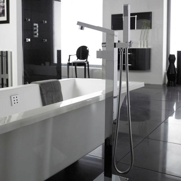 Mitigeur Thermostatique bain/douche pour baignoire îlot Kubix