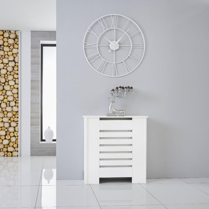 Cache Radiateur Blanc 82cm x 78cm Newham