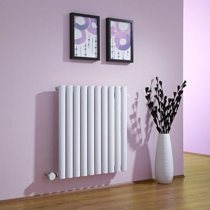 Radiateur Design Électrique Horizontal Blanc Vitality 63,5cm x 59,5cm x 5,5cm
