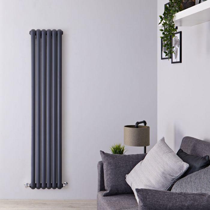 Radiateur Design Vertical Anthracite Saffre 180cm x 38,3cm x 8cm 1489 Watts