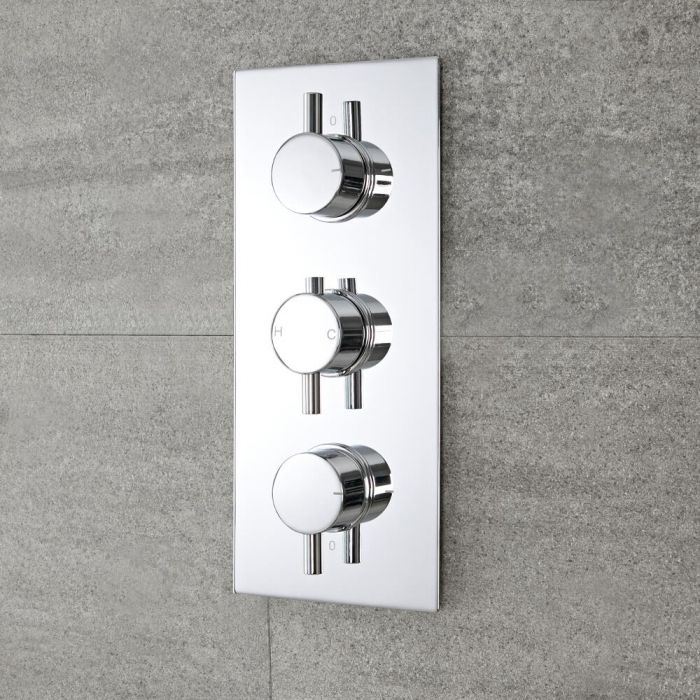 Mitigeur Douche Thermostatique Encastrable, Design Rond