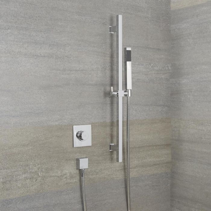 Douche Digitale Thermostatique 1 Fonction & Douchette sur Rampe 70cm - Narus