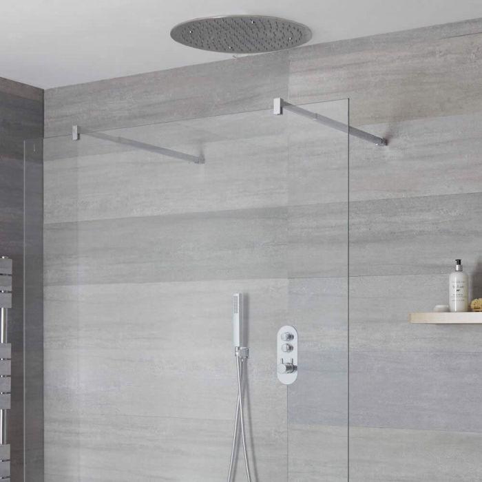 Douche encastrable 2 Fonctions - Douchette &  Pommeau Plafond Ø 40cm -Idro