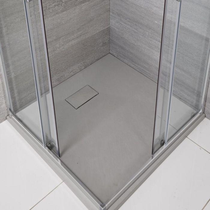 Receveur de douche carré gris perle 80x80cm