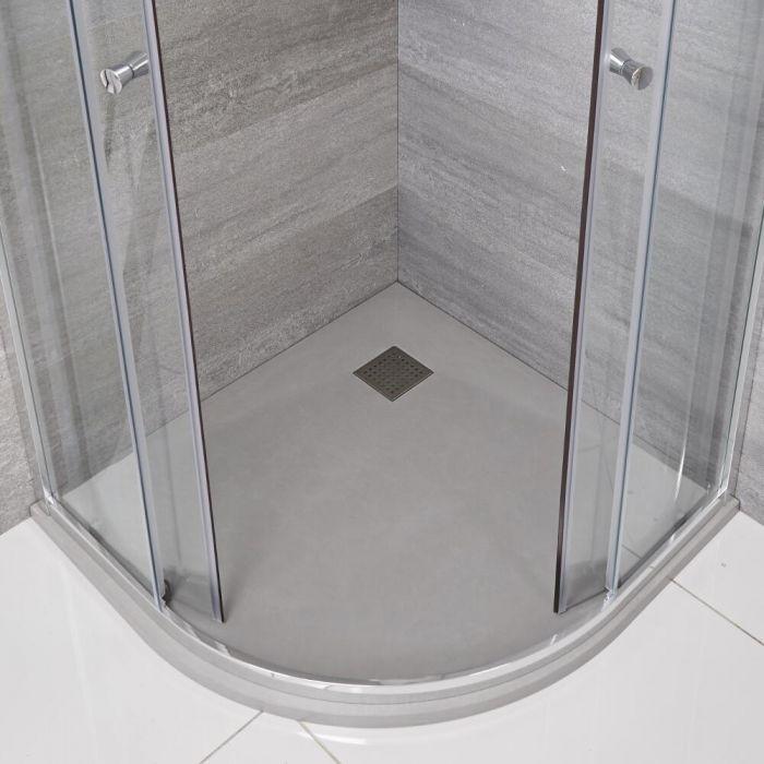 Receveur de douche gris perle quart de rond 90cm