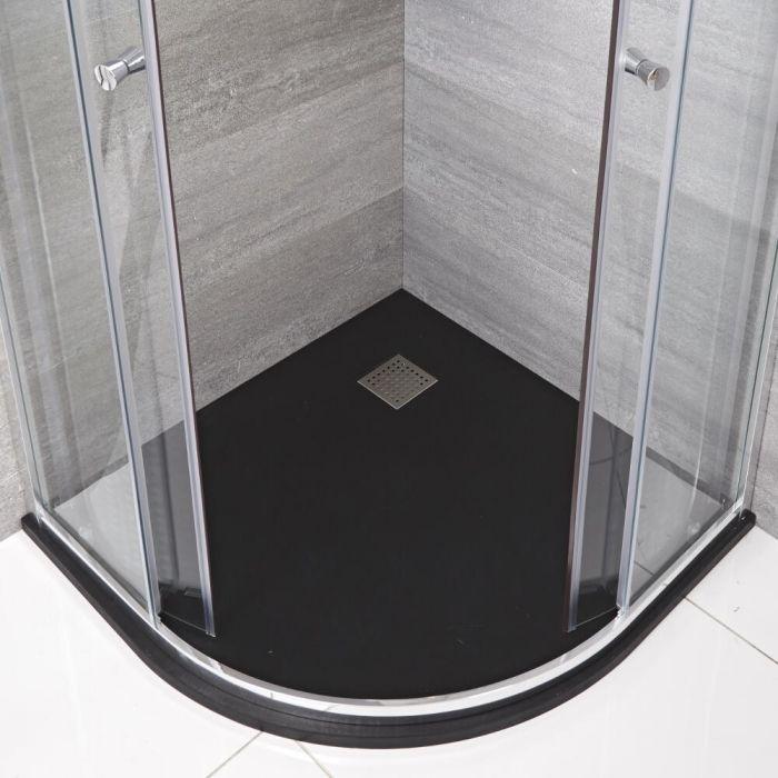 Receveur de douche Anthracite quart de rond 90cm