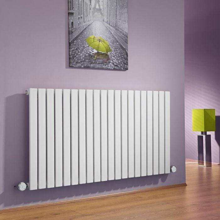 Radiateur Design Électrique Horizontal Blanc Sloane 63,5cm x 118cm x 5,4cm