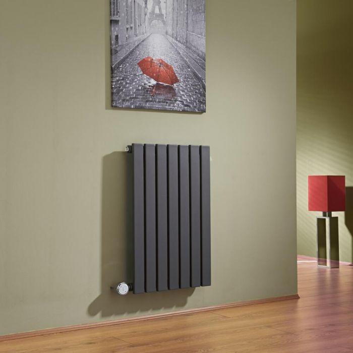Radiateur Design Électrique Horizontal Anthracite Sloane 63,5cm x 42cm x 5,4cm