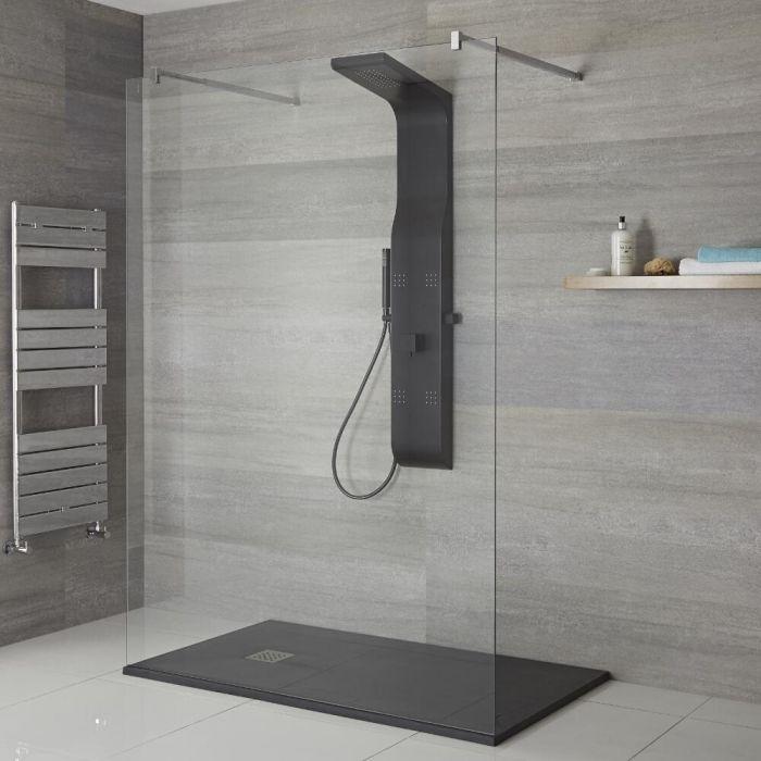 Colonne de douche mitigeur mécanique Alston Noire