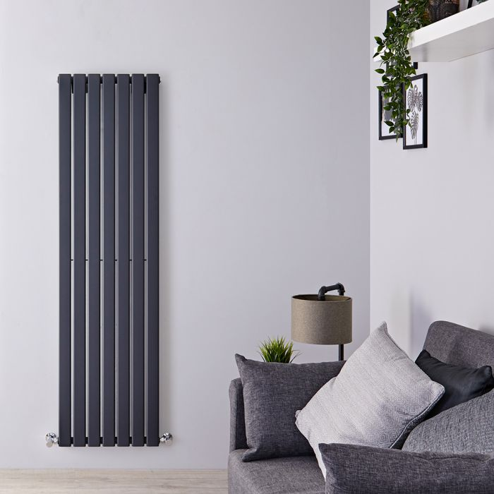 Radiateur Design Vertical Anthracite Delta 178cm x 49cm x 4,7cm 1152 Watts