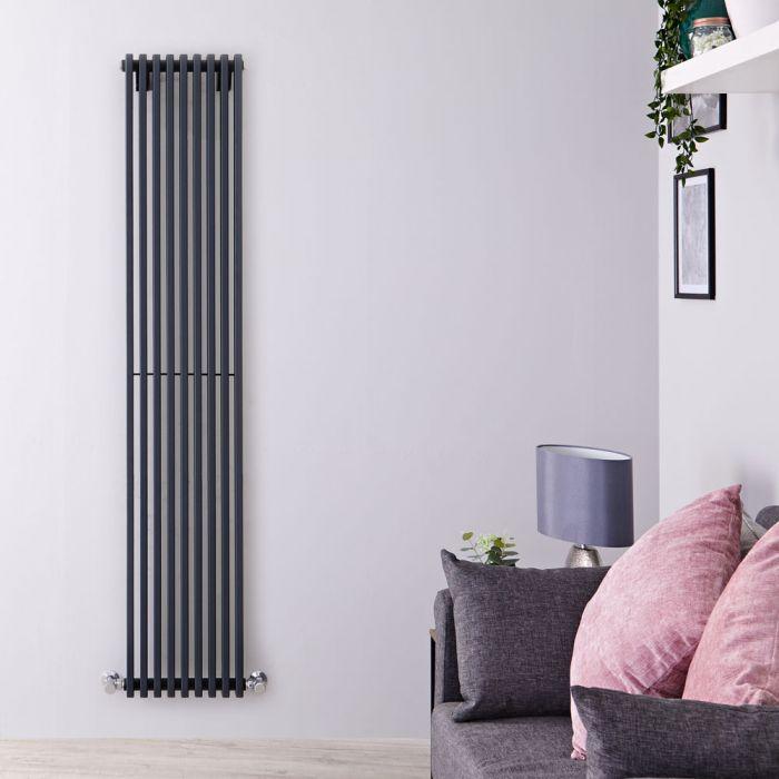 Radiateur Design Vertical Anthracite Parallel 178cm x 34,2cm x 8,4cm 1177 Watts
