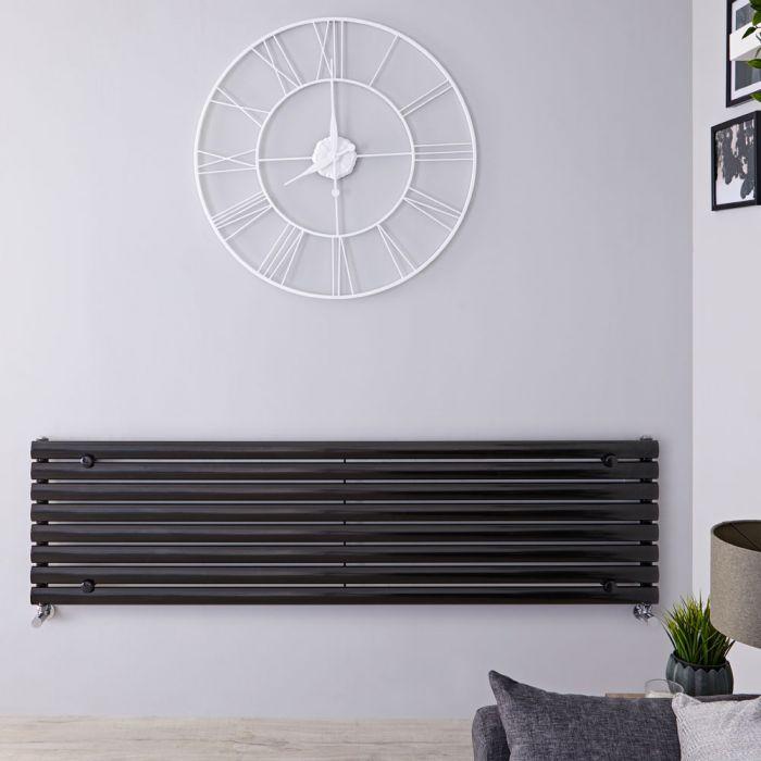 Radiateur Design Horizontal Noir Vitality 47,2cm x 178cm x 5,6cm 1162 Watts