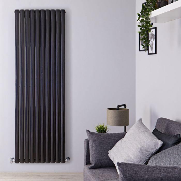 Radiateur Design Vertical Noir Vitality 178cm x 59cm x 7,8cm 2335 Watts